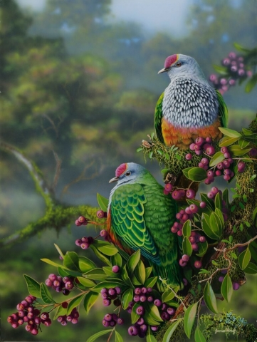 Fruitful Ground pigeon painting by James Hough