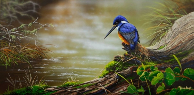 King Fisher painting by James Hough